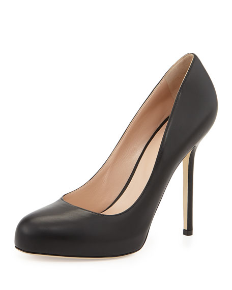 Sergio Rossi Leather Round-Toe Pumps cheap for sale buy cheap original buy cheap store free shipping exclusive V4fo0KN5gZ