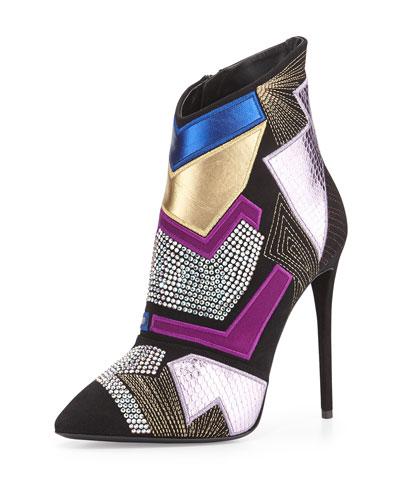 Olinda Pop Art Suede Ankle Boot