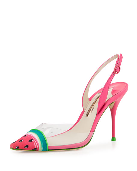 Sophia Webster Watermelon Slingback Sandals discount wide range of discount exclusive sale comfortable new cheap price kYSqlCUpbS