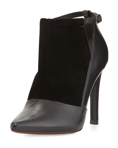 Casia Point-Toe Ankle Bootie, Black