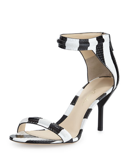 df8591128 3.1 Phillip Lim Martini Striped Mid-Heel Sandal