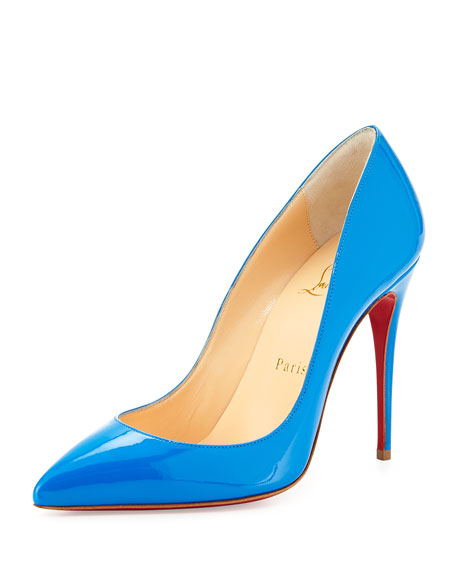 ba9b7a501ba Pigalle Follies Point-Toe Red Sole Pump Blue