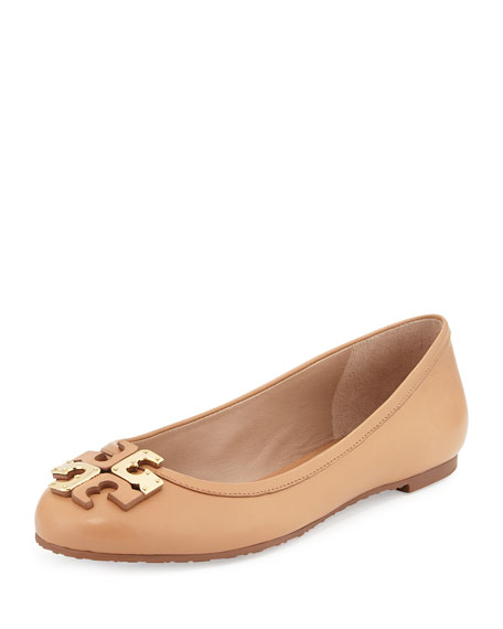 a58068d6b Tory Burch Lowell Leather Logo Ballerina Flat