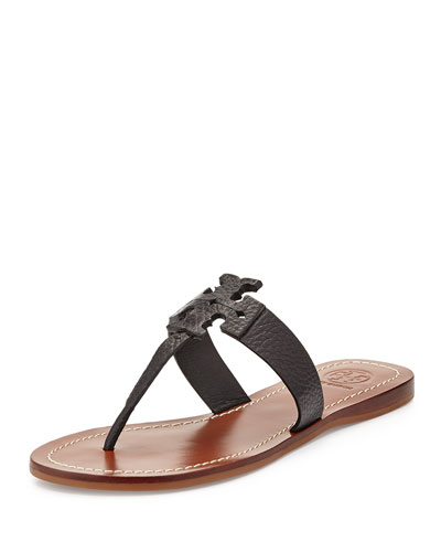 Moore Leather Thong Sandal, Black