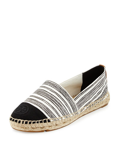 Striped Canvas Espadrille Flat