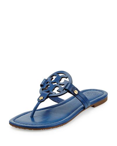 Miller Leather Logo Thong Sandal, Greek Blue