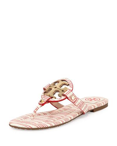 Miller Striped Logo Thong Sandal