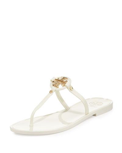 Mini Miller Jelly Thong Sandal, Ivory