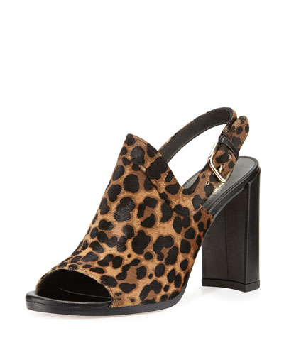 Pipeliner Leopard-Print Sandal, Chocolate