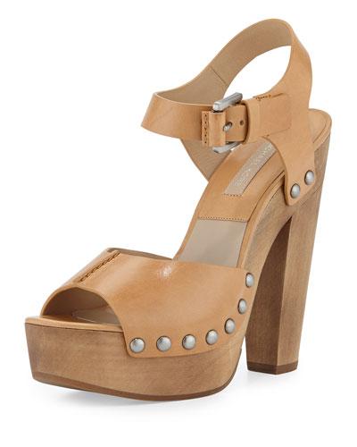 Annabel Platform Sandal, Peanut