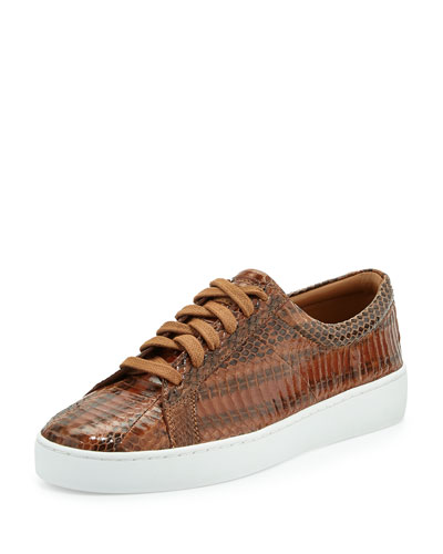 Valin Runway Snake Lace-Up Sneaker