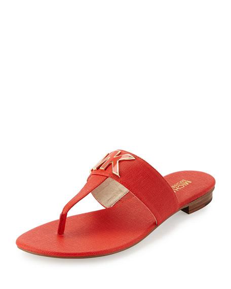 ccb67c484c45 MICHAEL Michael Kors Hayley MK Leather Thong Sandal