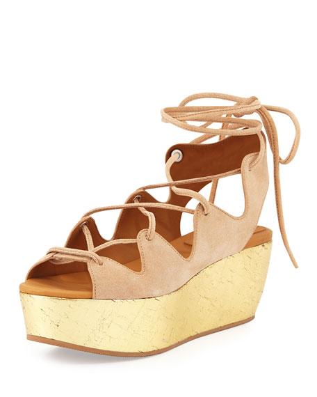 Liane Wedge Nude Golden Sandal Cork X0wOkP8n