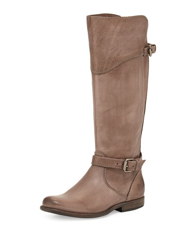 Phillip Leather Riding Boot, Gray