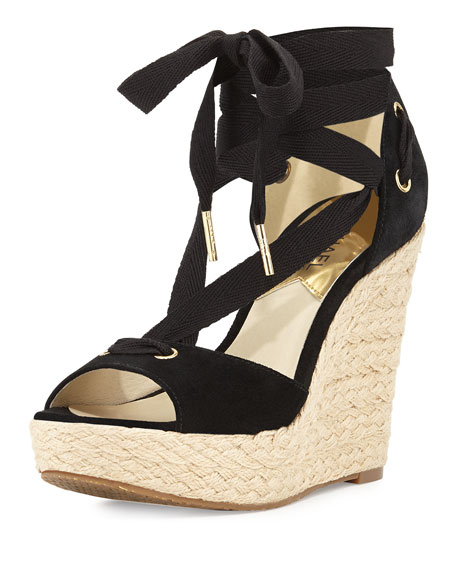 Lilah Suede Wedge Sandals puwHWMo5Wb
