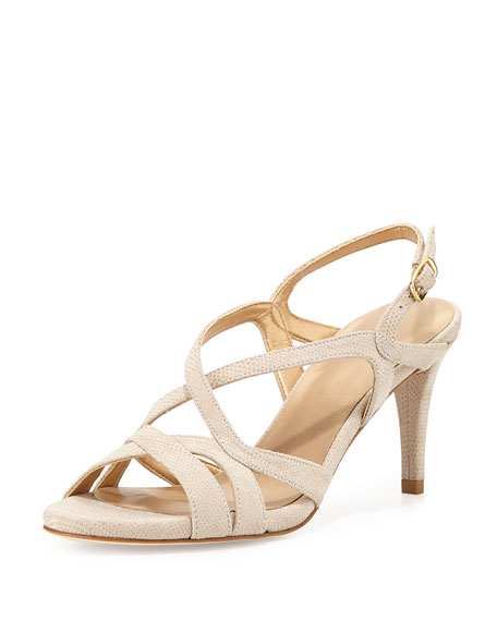 discount browse Stuart Weitzman Embossed Slingback Sandals sale 2014 new under 50 dollars RCrZbGF