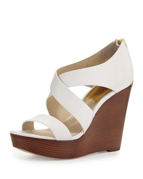 c6f1f7920484 MICHAEL Michael Kors Elena Leather Wedge Sandal