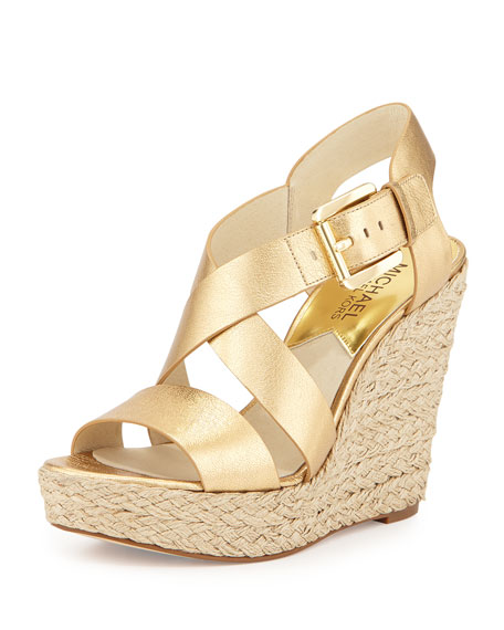 4652040eb0b7 MICHAEL Michael Kors Giovanna Leather Espadrille Wedge