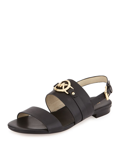 da2e5be529d6 MICHAEL Michael Kors Molly Leather Flat Sandal