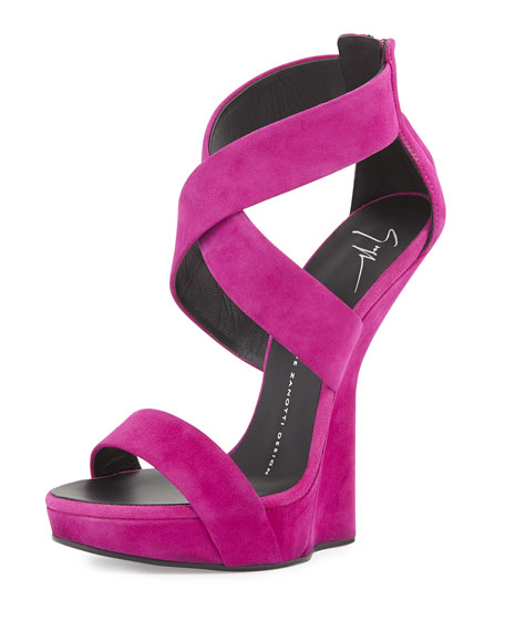 discount find great clearance from china Giuseppe Zanotti Suede Wedge Sandals cheap sale wholesale price perfect sale online fJCzQUKq5T