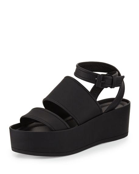 b4fd377fb892 Vince Vienna Flat Platform Ankle-Wrap Sandal