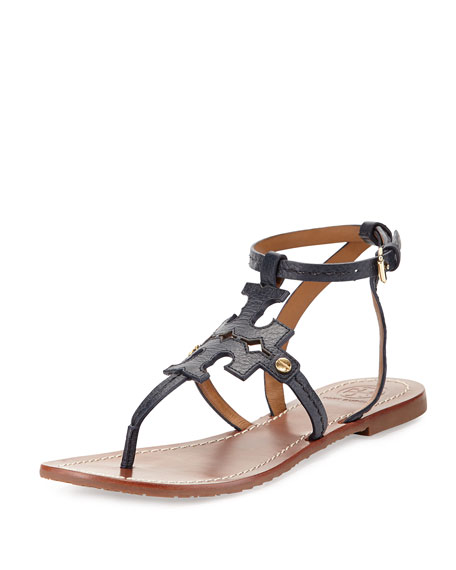 a7b96662734 Tory Burch Phoebe Leather Flat Sandal