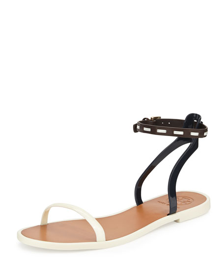 Tory Burch Ankle-Strap Jelly Sandal