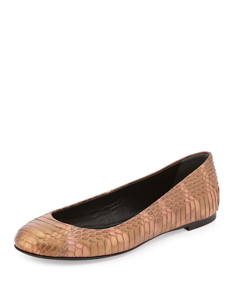 Giuseppe Zanotti Embossed Leather Ballet Flats free shipping factory outlet sale pictures cheap sale best place latest buy cheap very cheap VTFSs3uZ