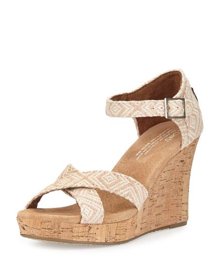 f1802a50e11 TOMS Woven Diamond Strappy Wedge Sandal