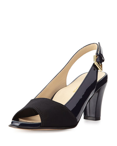 Fortula Patent Slingback Pump, Navy Blue