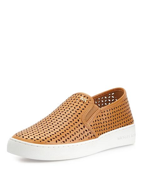 bda03990 MICHAEL Michael Kors Olivia Perforated Slip-On Sneaker, Peanut