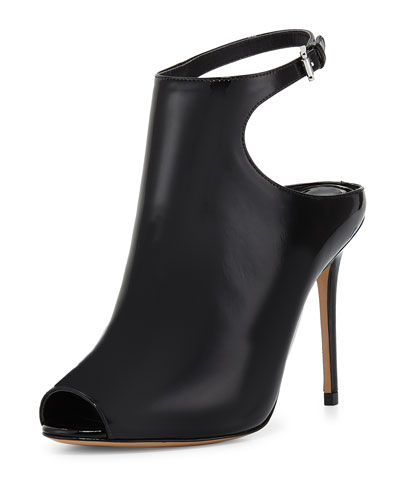 Cece Open-Toe Ankle-Strap Bootie, Black