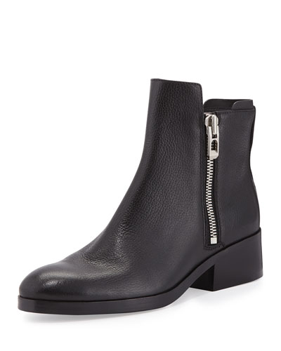 Alexa Leather Ankle Boot, Black