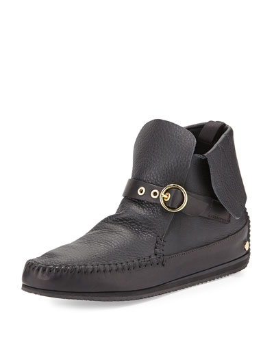 Gigi Leather Moccasin, Black