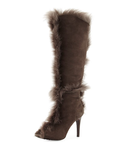 Sully Fur-Trimmed Knee Boot