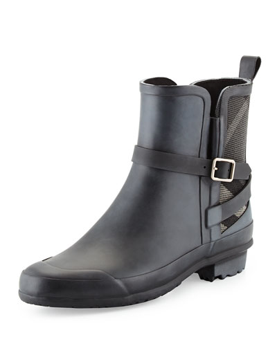 Riddlestone Check-Panel Rain Boot