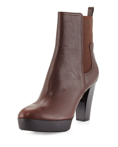 Milan2 Leather Bootie, Expresso