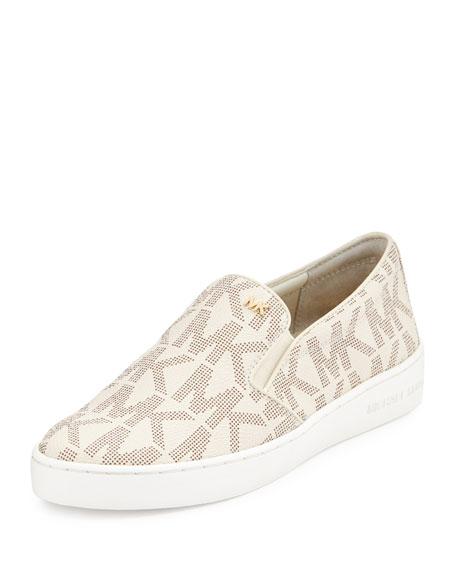 1e418e49c3820c MICHAEL Michael Kors Keaton Logo-Print Slip-On Sneaker, Vanilla