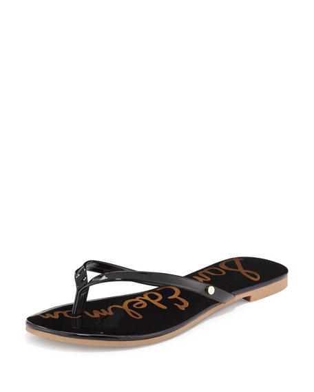 918ec52d30f Sam Edelman Oliver Flat Patent Thong Sandal
