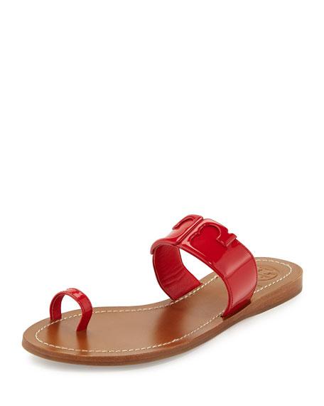 7ed04f0f67e23f Tory Burch Marcia Patent Toe-Ring Sandal