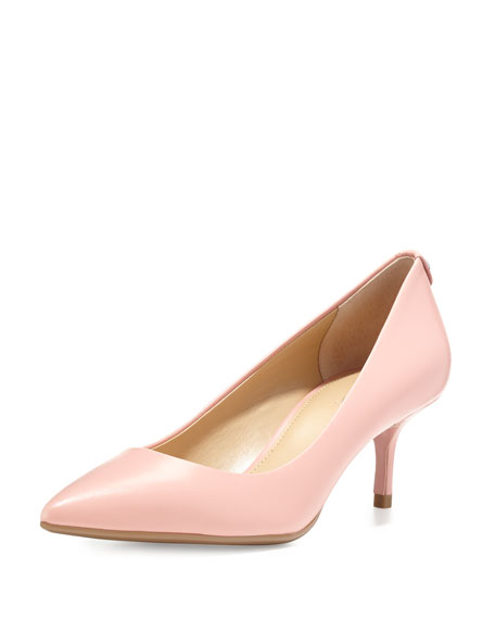 MICHAEL Michael Kors MK Flex Mid Pump Womens Pale Pink Leather