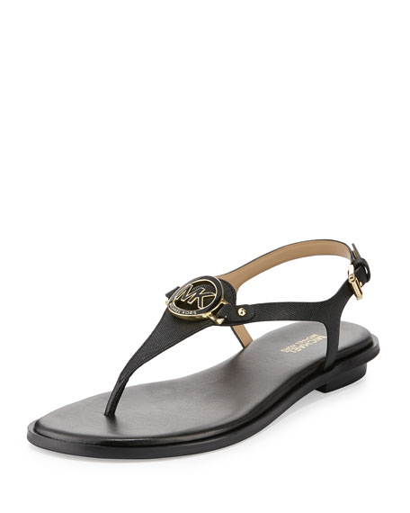 4876765e525 MICHAEL Michael Kors Lee Leather Flat Thong Sandal