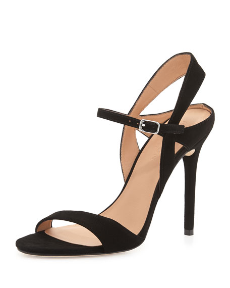 Halston Heritage Suede T-Strap Sandals low price fee shipping clearance 2014 unisex largest supplier sale online KoXB7lN