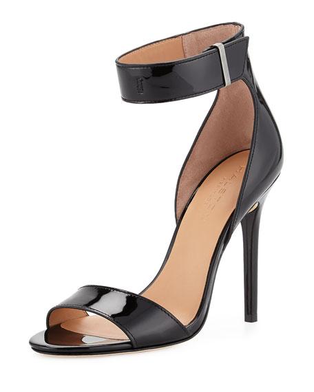 Halston Patent Leather Slide Sandals cheap sale geniue stockist cheap Manchester newest sale online iNvry