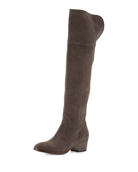 2cba80f42e5 Frye Clara Suede Over-The-Knee Boot