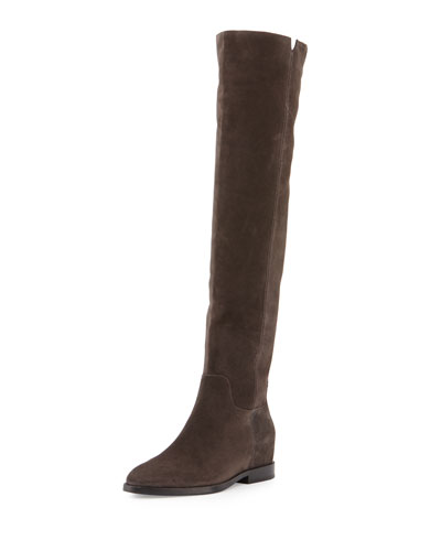 Jess Suede Over-the-Knee Boot, Bistro