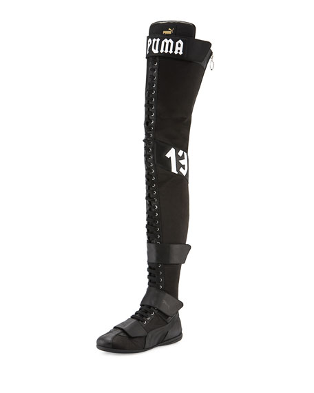 variety of designs and colors where to buy big discount sale Eskiva Over-the-Knee Boxing Boot Black