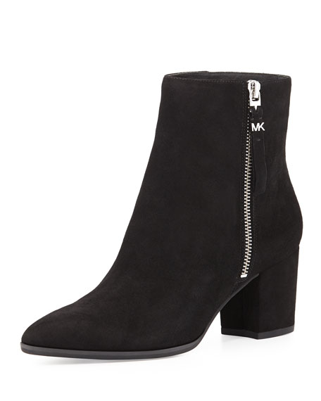 MICHAEL Michael Kors Dawson Suede Ankle Boot, Black. Dawson Suede Ankle Boot,  Black
