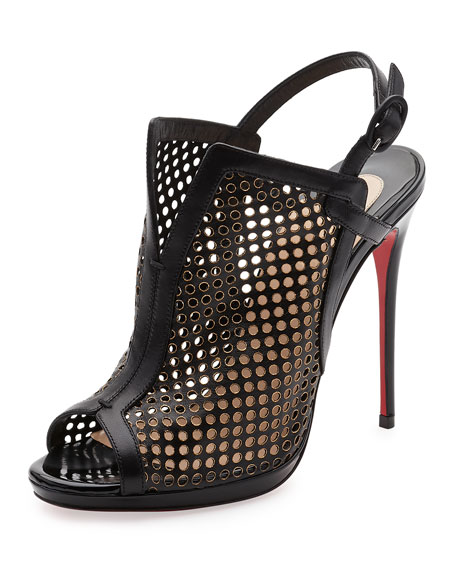 0f94829a7b4 Christian Louboutin Escriminette Perforated 120mm Red Sole Bootie ...