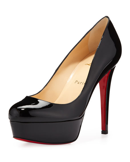 Christian Louboutin Bianca Patent Red Sole Pump Black